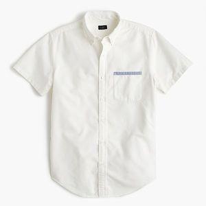 J. Crew Vintage Oxford Shirt Tipped Pocket